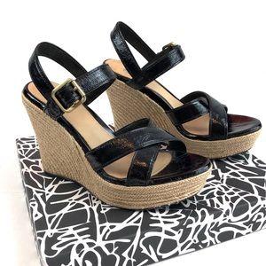 UGG Jackilyn Espadrille Wedge Sandals Size 8